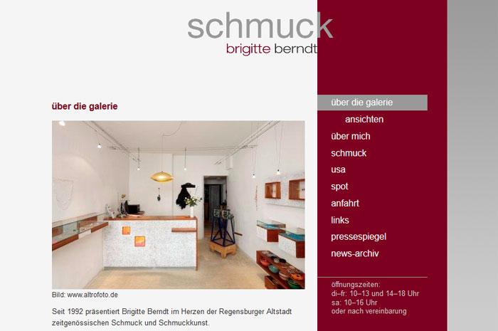 brigitte-berndt.com Brigitte Berndt Schmuckgalerie Regensburg