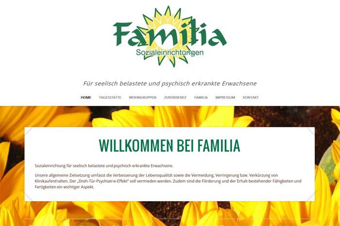 familia-sozialeinrichtungen.de Willkommen bei Familia